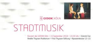 GEDOK KÖLN Stadtmusik-2018