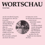 WORTSCHAU Heft: Paris